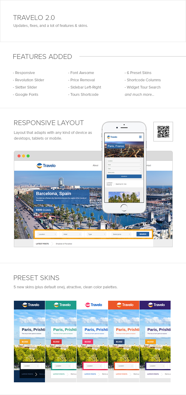 Travelo - Responsive Booking WordPress Theme - 4